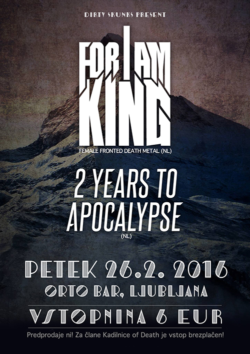 For I Am King, 2 Years to Apocalypse
