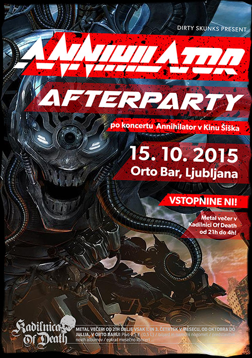Kadilnica Of Death: Annihilator Afterparty