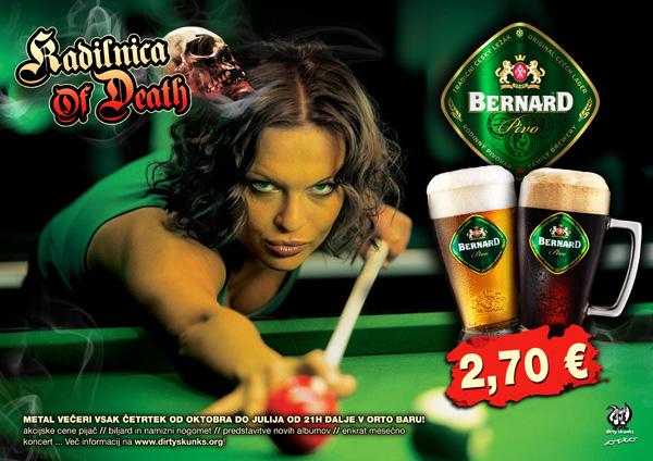 Akcija! Pivo Bernard v Kadilnici Of Death samo 2,70 EUR!