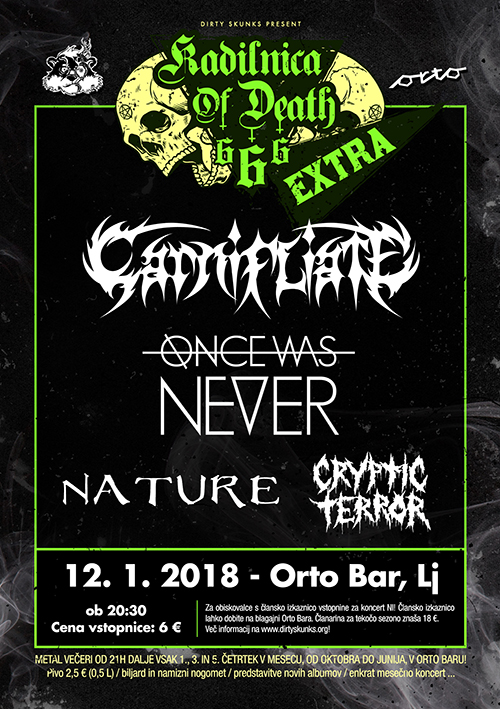 Kadilnica of Death Extra: Carnifliate (Si), Once Was Never (Si), Nature (Si), Cryptic Terror (Si)