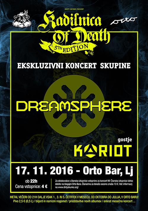 Kadilnica of Death: Ekskluzivni koncert skupine Dreamsphere