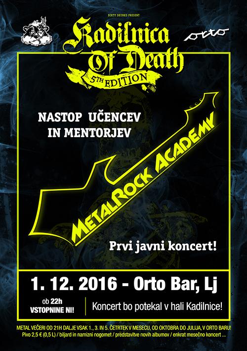 Kadilnica of Death: Koncert glasbene šole MetalRock Akademija