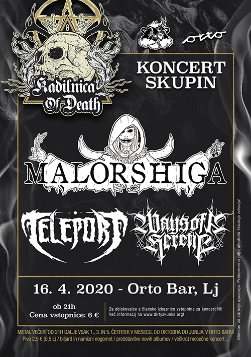Kadilnica of Death: Malorshiga (Si), Teleport (Si), Ways of a Heretic (Si)