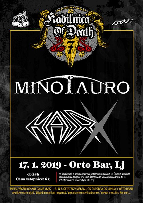 Kadilnica of Death: Minotauro (Ita/Si), HairX (Si)