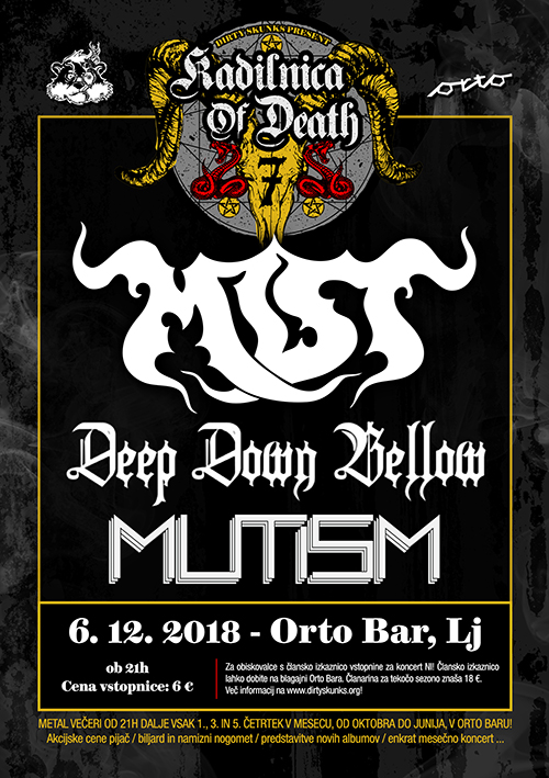 Kadilnica of Death: Mist (Si), Deep Down Bellow (Si), Mutism (Si)