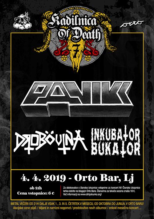 Kadilnica of Death: Panikk (Si), Drobovina (Si), Inkubator Bukator (Si)