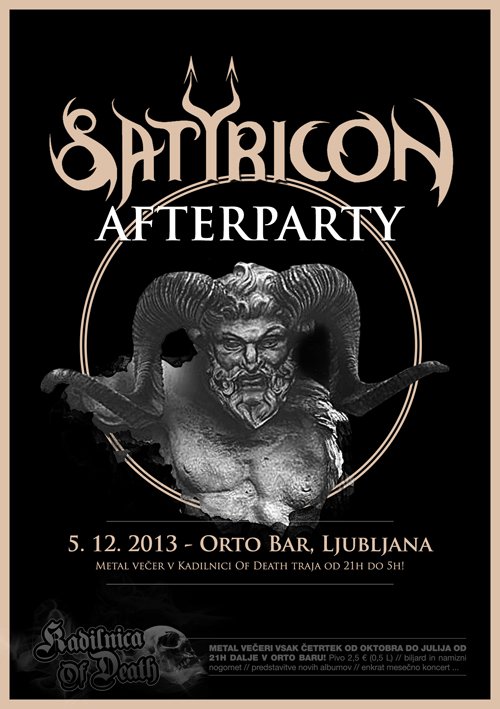 Kadilnica Of Death: Satyricon Afterparty