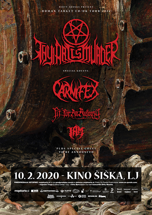 Thy Art Is Murder (Aus), Carnifex (USA), Fit for an Autopsy (USA), I Am (USA), Rivers of Nihil (USA)